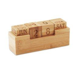Calendar din bambus, Everestus, ABE13, natur, lupa de citit inclusa