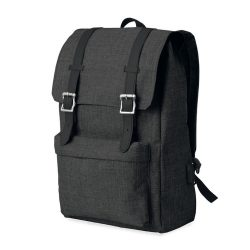 Rucsac 600D poliester, Everestus, RU12, negru, saculet de calatorie si eticheta bagaj incluse