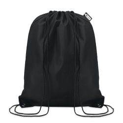 Sac cu cordon 190T RPET, PET, black