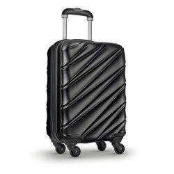 Troler cu carcasa rigida, plastic, Everestus, TR10, negru
