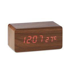 Statie meteo cu incarcator, lemn, lemn