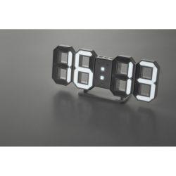 Ceas de perete LED cu adaptor, materiale multiple, white