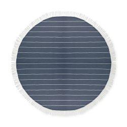 Prosop din bumbac rotund, diametru 150 cm, Everestus, PP7, albastru, saculet de calatorie inclus