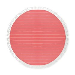 Prosop din bumbac rotund, diametru 150 cm, Everestus, PP10, rosu