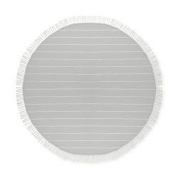 Prosop din bumbac rotund, diametru 150 cm, Everestus, PP8, gri, saculet de calatorie inclus
