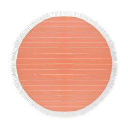 Prosop din bumbac rotund, diametru 150 cm, Everestus, PP9, portocaliu, saculet de calatorie inclus