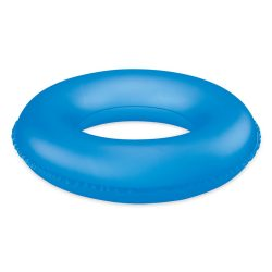 Inel gonflabil, pvc, transparent blue