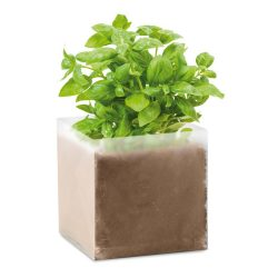 "Compost cu seminte ""BASIL"", materiale multiple, beige"