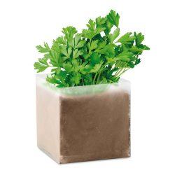"Compost cu seminte ""PARSLEY"", materiale multiple, beige"