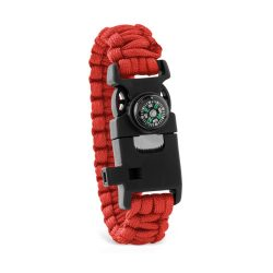 Bratara de siguranta, multifunctionala, Everestus, 20IAN2460, Rosu, Plastic, Nylon