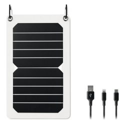 Incarcator solar, de 5,3W, materiale multiple, white