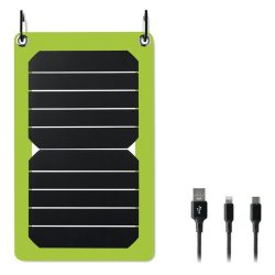 Incarcator solar, de 5,3W, materiale multiple, lime