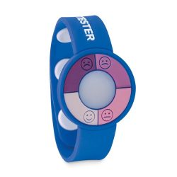 Bratara cu senzor UV, pvc, royal blue