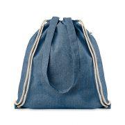 Sacosa cu snur bumbac reciclat, royal blue