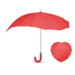 Umbrela 25 inch in forma de inima, maner curbat, materiale multiple, Everestus, UC5, rosu