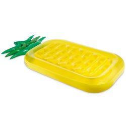 Saltea gonflabila ananas pentru plaja, 186x88x20 cm, pvc, Everestus, ESP001, galben, saculet inclus