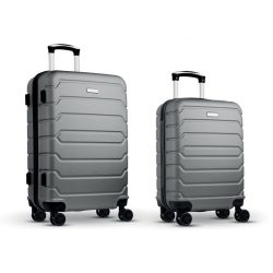 "Set trollere ABS de 20""/24"", Item with multi-materials, matt silver"