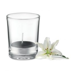 Lumanare aromatizata in sticla transparenta, Everestus, 9IA19049, Negru