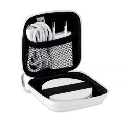 Set de incarcare wireless, Item with multi-materials, white