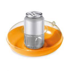 Suport gonflabil pentru pahar, PVC, orange