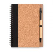 Set agenda cu spirala si pix, 70 pagini dictando, 18x13x0.7 cm, Everestus, 20IUN0932, Negru, Hartie