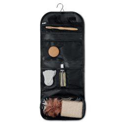 Geanta cosmetice de voiaj, cu agatatoare, Everestus, 20IAN436, Poliester 600D si 300D, Negru