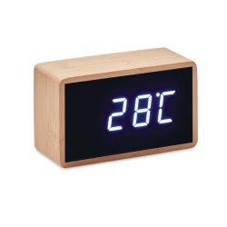 Ceas de masa desteptator, 9,8x5,8x4,3 cm, Everestus, 20SEP0127, Bambus, Natur