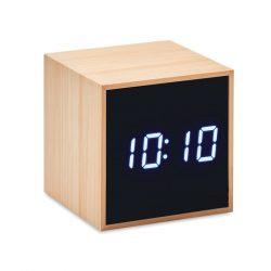 Ceas de masa desteptator, 6,2x6,2x6,2 cm, Everestus, 20SEP0128, Bambus, Natur