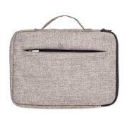 Geanta laptop 13 inch cu fermoar, Everestus, 20IAN010, Poliester, Gri