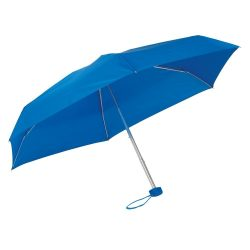 Umbrela mica de buzunar 85 cm, ax cu 5 sectiuni, albastru royal, Everestus, UB22PT, aluminiu, fibra de sticla, poliester