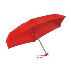 Umbrela mica de buzunar 85 cm, ax cu 5 sectiuni, rosu, Everestus, UB25PT, aluminiu, fibra de sticla, poliester, saculet inclus