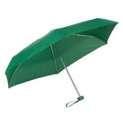 Umbrela mica de buzunar 85 cm, ax cu 5 sectiuni, verde, Everestus, UB26PT, aluminiu, fibra de sticla, poliester