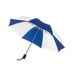 Regular Umbrela de buzunar, albastru si alb