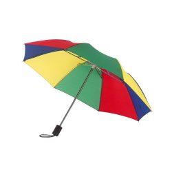 Umbrela de buzunar 85 cm, maner din plastic, Everestus, 20IAN760, Verde, Albastru, Rosu, Galben, Metal, Poliester