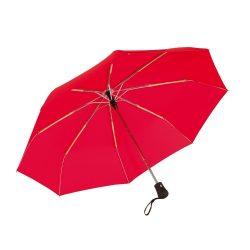 Umbrela pliabila 97 cm, inchidere si deschidere automata, rosu, Everestus, UP06BA, metal, aluminiu, poliester