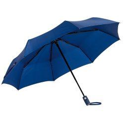 Umbrela de buzunar automata antivant 101 cm, in husa, albastru marin, Everestus, UB18OA, metal, fibra de sticla, poliester