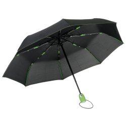 Umbrela de buzunar automata antivant 97 cm, ax metalic, negru, verde, Everestus, UA46SE, metal, fibra de sticla, poliester