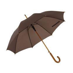 Umbrela automata 103 cm, maner curbat din lemn, Everestus, 20IAN777, Maro, Lemn, Metal, Poliester