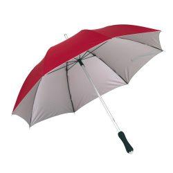Joker Umbrela din aluminiu si fibra de sticla, rosu si argintiu