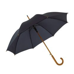 Umbrela automata diametru 103 cm, maner curbat, Everestus, 11NP1901, lemn, metal, nylon, albastru marin