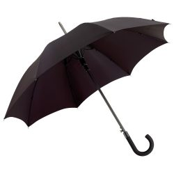 Umbrela automata 103 cm, spite metalice, negru, Everestus, UA13JE, aluminiu, fibra de sticla, poliester