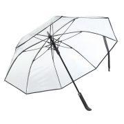 Umbrela automata 103 cm, Everestus, 20FEB0006, Metal, Fibra de sticla, POE, Negru, Transparent