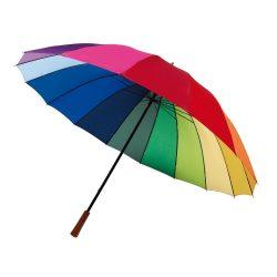 Umbrela Golf 131 cm, 16 segmente, multicolor, Everestus, UG13RY, metal, poliester, saculet de calatorie inclus