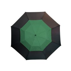 Umbrela golf 132 cm, sistem de ventilatie, negru si verde inchis, Everestus, UG11MN, fibra de sticla, nailon