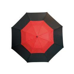 Umbrela golf 132 cm, sistem de ventilatie, negru si rosu, Everestus, UG10MN, fibra de sticla, nailon