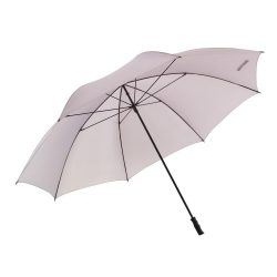 Umbrela golf 180 cm foarte mare, pentru 7 persoane, gri deschis, Everestus, UG03CE, fibra de sticla, poliester