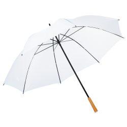 Umbrela de golf RAINDROPS, metal, poliester, alb