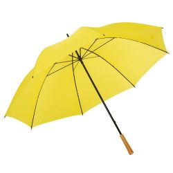 Umbrela de golf RAINDROPS, metal, poliester, galben