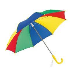 Umbrela 69 cm, pentru copii, Everestus, 20IAN708, Albastru, Verde, Rosu, Galben, Metal, Poliester