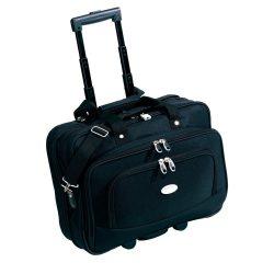 Geanta servieta, negru, Everestus, GD11MR, poliester 600D, eva, saculet de calatorie si eticheta bagaj incluse